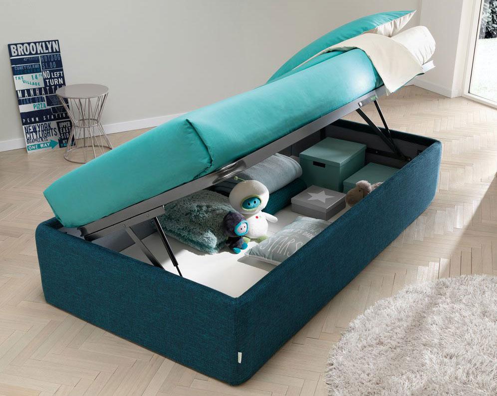 Camera da letto con letto singolo contenitore senza testiera Mobilifici Rampazzo