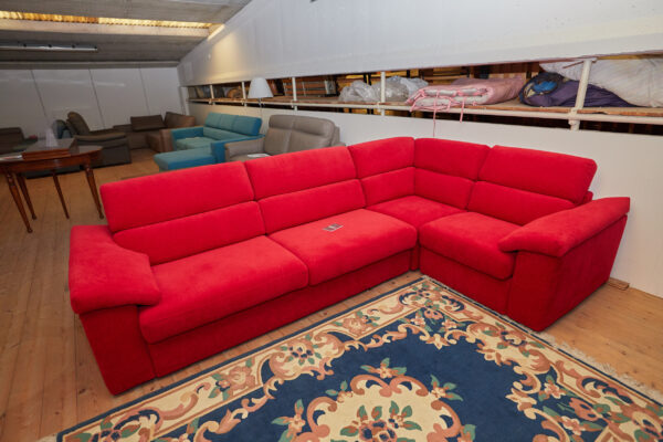 Outlet-mobilifici-rampazzo-divano Touch-rosso-samoa